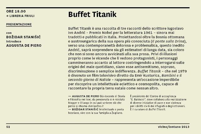 130509 Buffet Titanik Vicino Lontano 2013