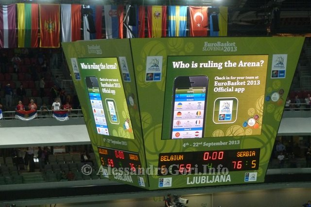 130911 Srbija-Belgija Eurobasket Ljubljana - Foto Alessandro Gori P1240556